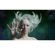 White Faun - mystery fairy Photographic Print