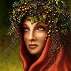 Keeper of the wood - nature goddess by Britta Glodde