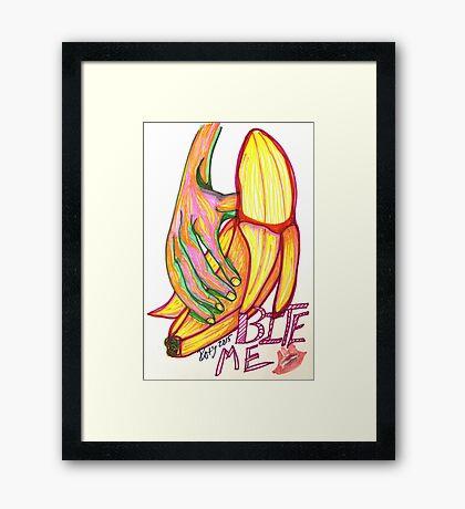 Bite Me Banana Framed Print