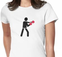 Boxing Boxer Womens Fitted T-Shirt