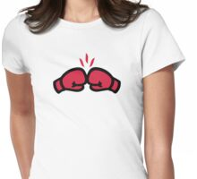 Boxing gloves punch Womens Fitted T-Shirt