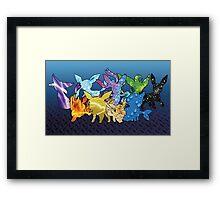 """The Dream Team"" - X & Y Eeveelutions Framed Print"