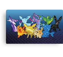 """The Dream Team"" - X & Y Eeveelutions Canvas Print"