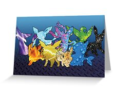 """The Dream Team"" - X & Y Eeveelutions Greeting Card"