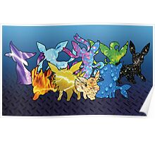 """The Dream Team"" - X & Y Eeveelutions Poster"