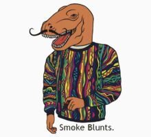 I Smoke Blunts T-shirt by Markus Amstrup