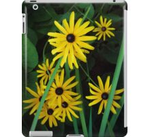 Yellow flowers on green grass iPad Case/Skin