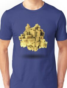 Gold abstract Unisex T-Shirt