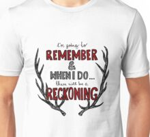 There Will Be a Reckoning (Red Version) Unisex T-Shirt