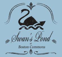 Swan's Pond - Black by Miranda Moyer