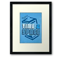 Greetings From Time & Space Framed Print
