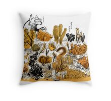 Little Red Swimming Throw Pillow