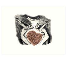 love in chains Art Print