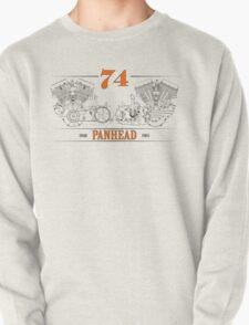 Panhead Motor in Orange/Black Pullover