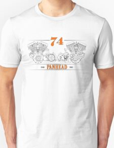 Panhead Motor in Orange/Black T-Shirt