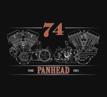 Panhead Motor in Orange/White by RNobles