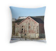 Rural Barn Throw Pillow