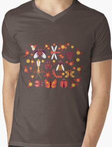 Funny insects Spider butterfly caterpillar dragonfly mantis beetle wasp ladybugs  Mens V-Neck T-Shirt