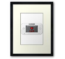 Life is a game. Framed Print