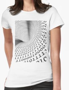 binary language background Womens Fitted T-Shirt