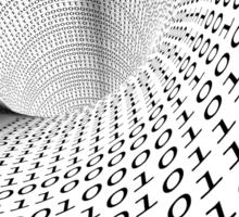 binary language background Sticker