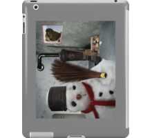 snowman at home iPad Case/Skin
