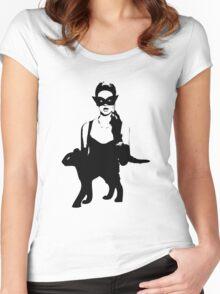 Cat Women Luxury Women's Fitted Scoop T-Shirt