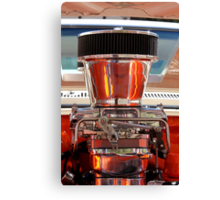 Chrome Engine Canvas Print