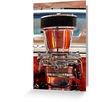 Chrome Engine Greeting Card