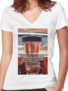 Chrome Engine Women's Fitted V-Neck T-Shirt