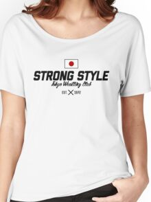 Strong Style Tokyo Wrestling Club (Black Text) Women's Relaxed Fit T-Shirt