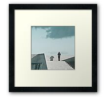 A Person Standing Framed Print
