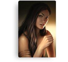 Pretty girl portrait Canvas Print