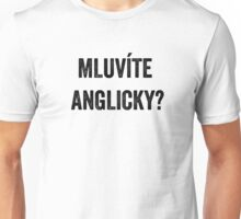 Do you speak English? (Czech) Unisex T-Shirt