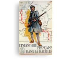 The French Infantry in the Battle Canvas Print