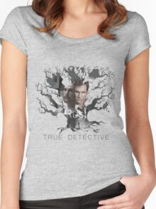 Rust Cohle tree from True Detective, HBO Women's Fitted Scoop T-Shirt