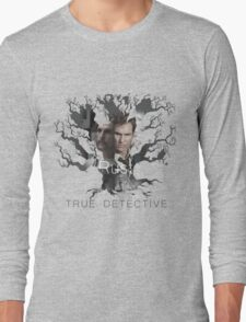 Rust Cohle tree from True Detective, HBO Long Sleeve T-Shirt