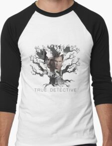 Rust Cohle tree from True Detective, HBO Men's Baseball ¾ T-Shirt
