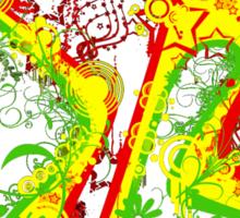 Abstract Rasta Sticker