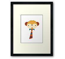 Business Monkey Framed Print