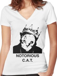 Notorious C.A.T. Women's Fitted V-Neck T-Shirt