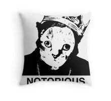 Notorious C.A.T. Throw Pillow
