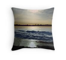 Waves of Snow: the Winter of our Discontent Throw Pillow