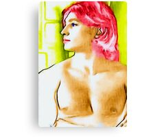 boy with red hair Canvas Print