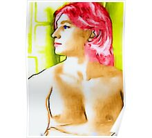 boy with red hair Poster
