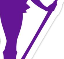 Saturn Purple Sticker