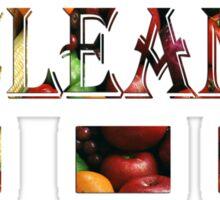 T-shirt / Eat clean & healthy Sticker