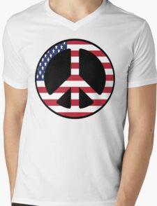 American Peace  Mens V-Neck T-Shirt