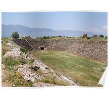Aphrodisias Hellenic Stadium From The East Poster