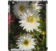 three white dahlias iPad Case/Skin